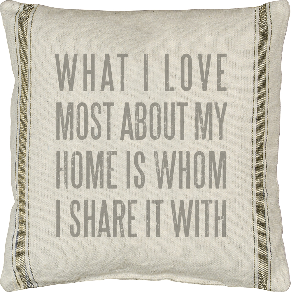 WHAT I LOVE' PILLOW $40