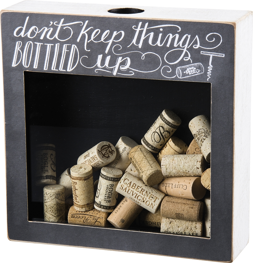 BOTTLE UP' CORK AND CAP HOLDER $38