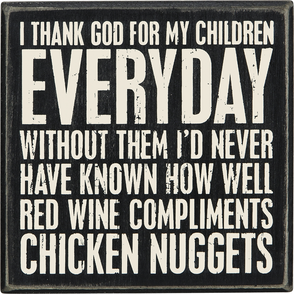 WINE AND NUGGETS' BOX SIGN $11.50