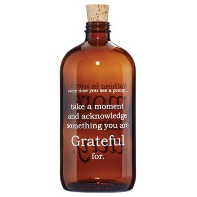 Gratitude Apothecary Jar     $28