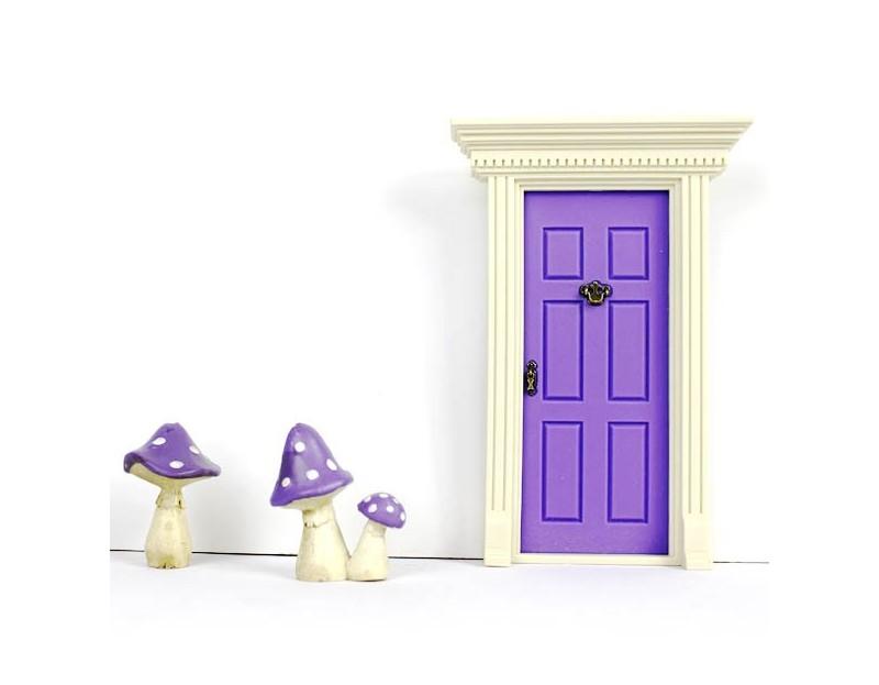 'LIL FAIRY DOOR - PRINCESS PURPLE $26