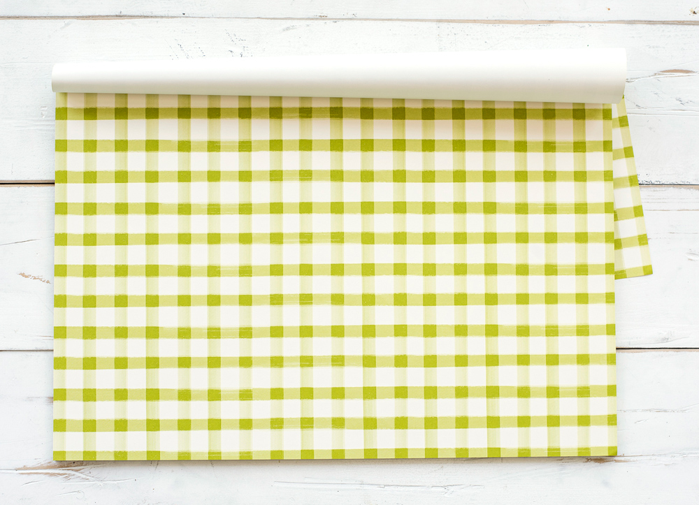 Green Painted Check Placemat $29