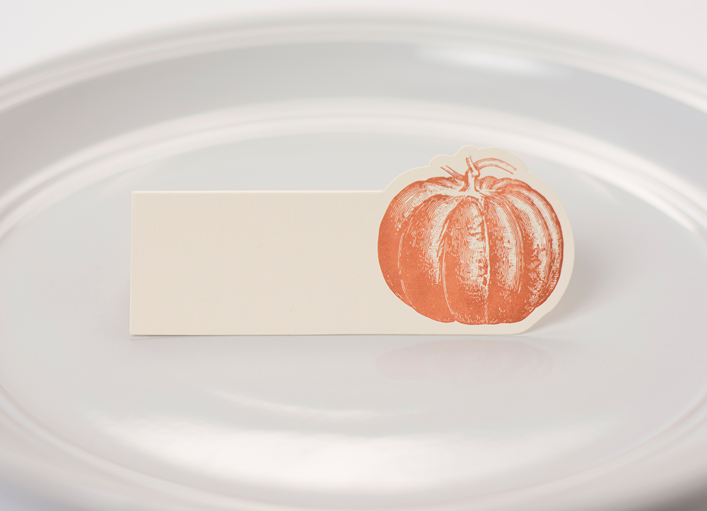 Pumpkin Place Cards $6