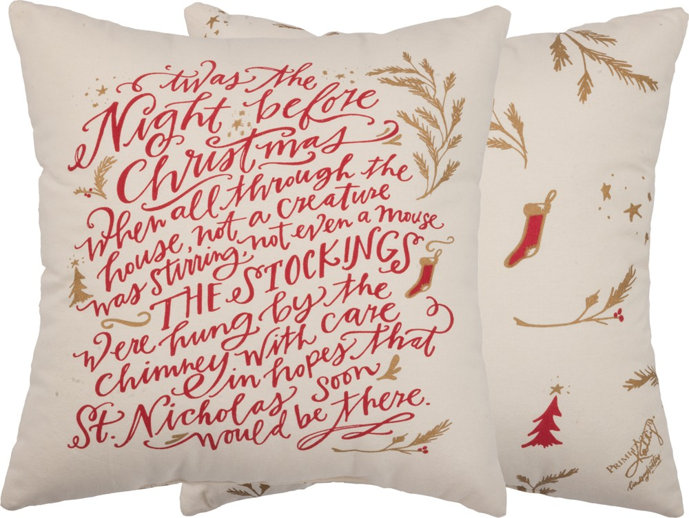 Twas the Night Pillow $32