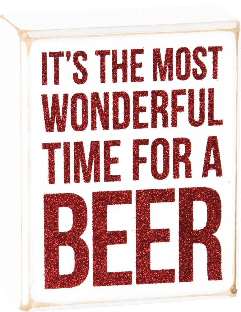 For a Beer Box Sign $12