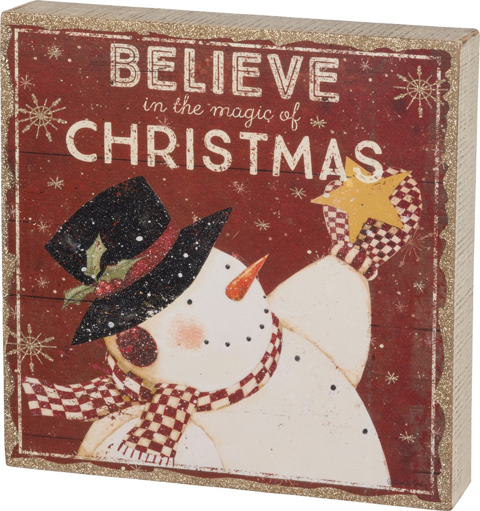 Believe Box Sign $32