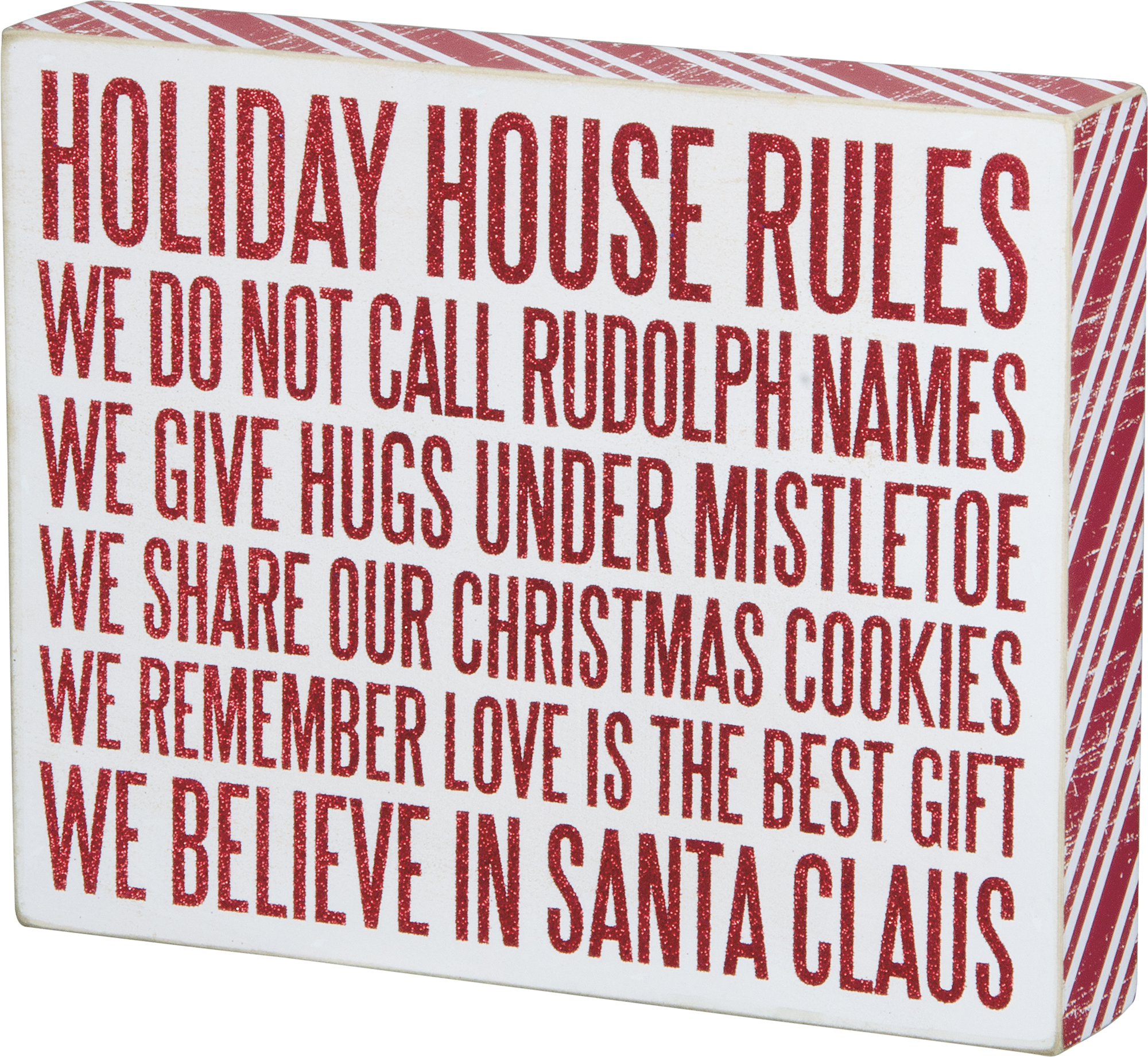 Holiday Rules Box Sign $26