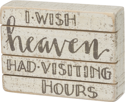 Visiting Hours Box Sign $14