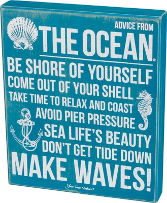 Advice From Ocean Box Sign $29