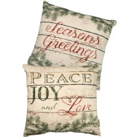 Peace and Joy Pillow $42