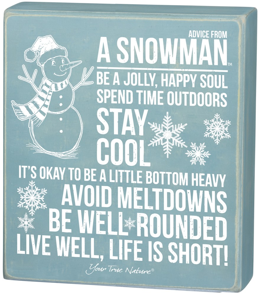 Advice from Snowman Box Sign $12