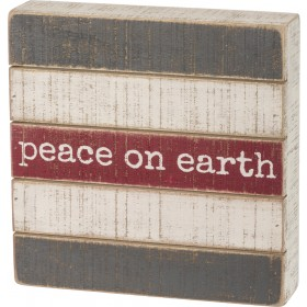 Peace Slatted Box Sign $22