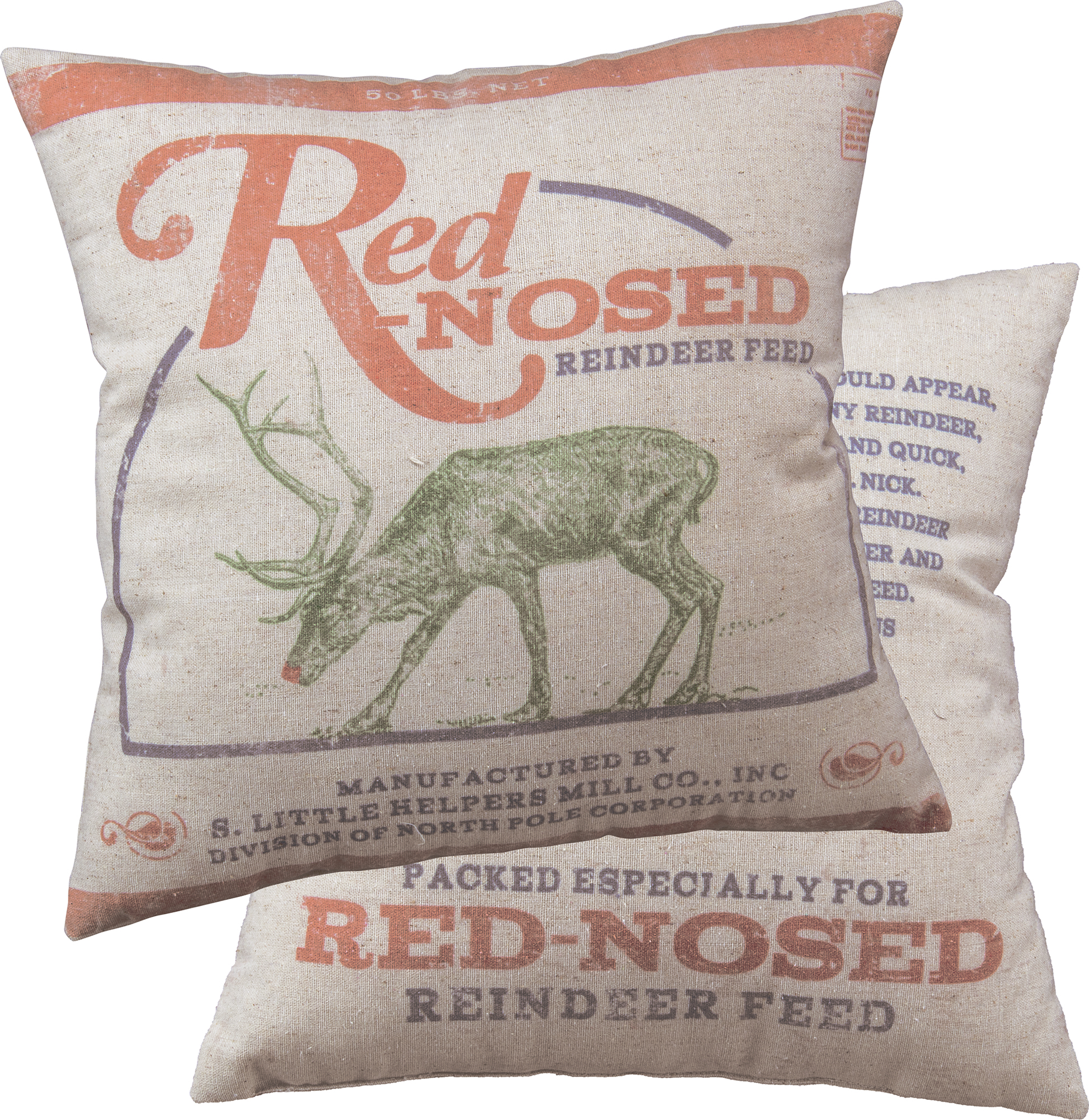Red Nosed Pillow $28