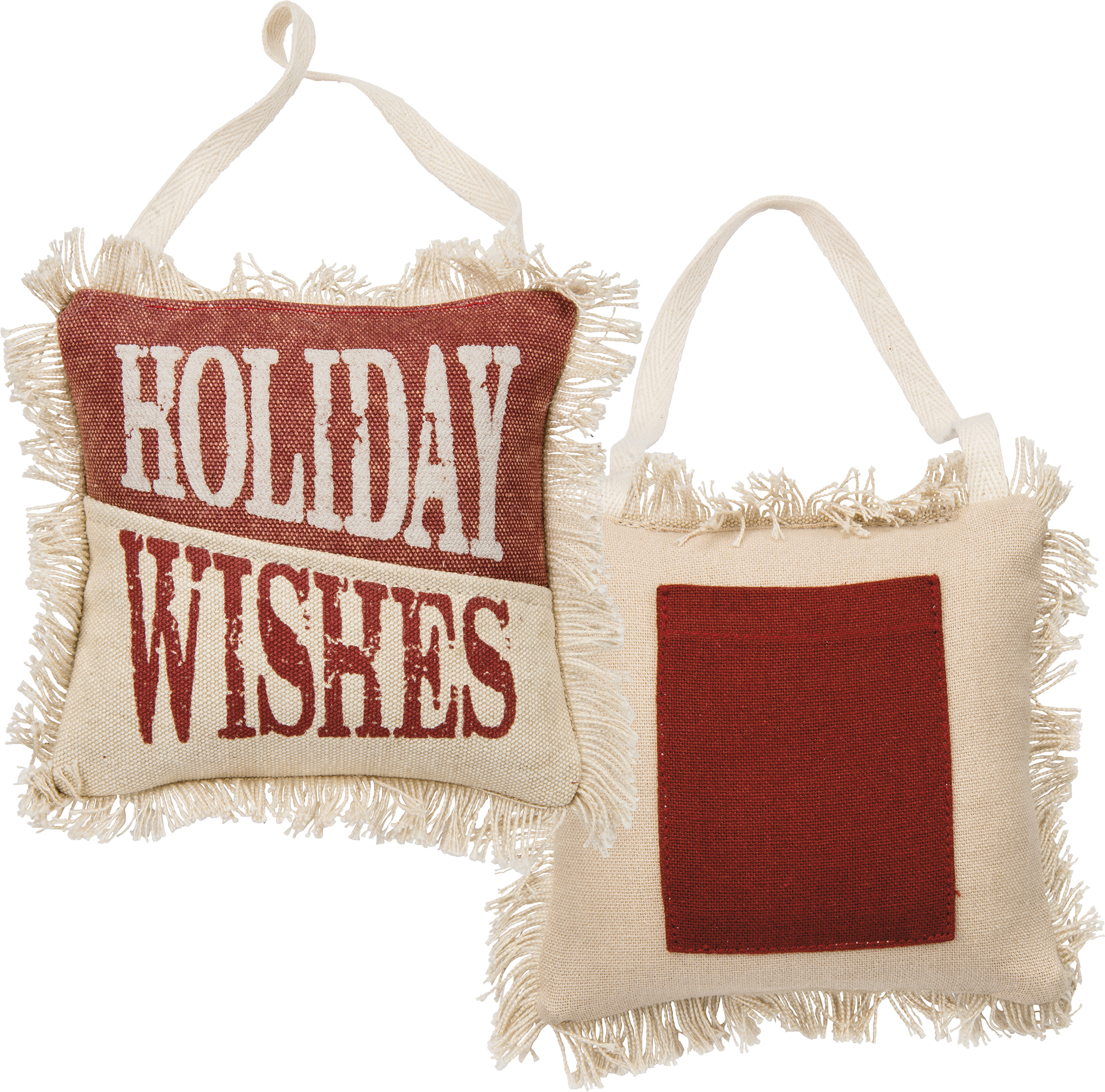 Holiday Wishes Mini Pillow $9