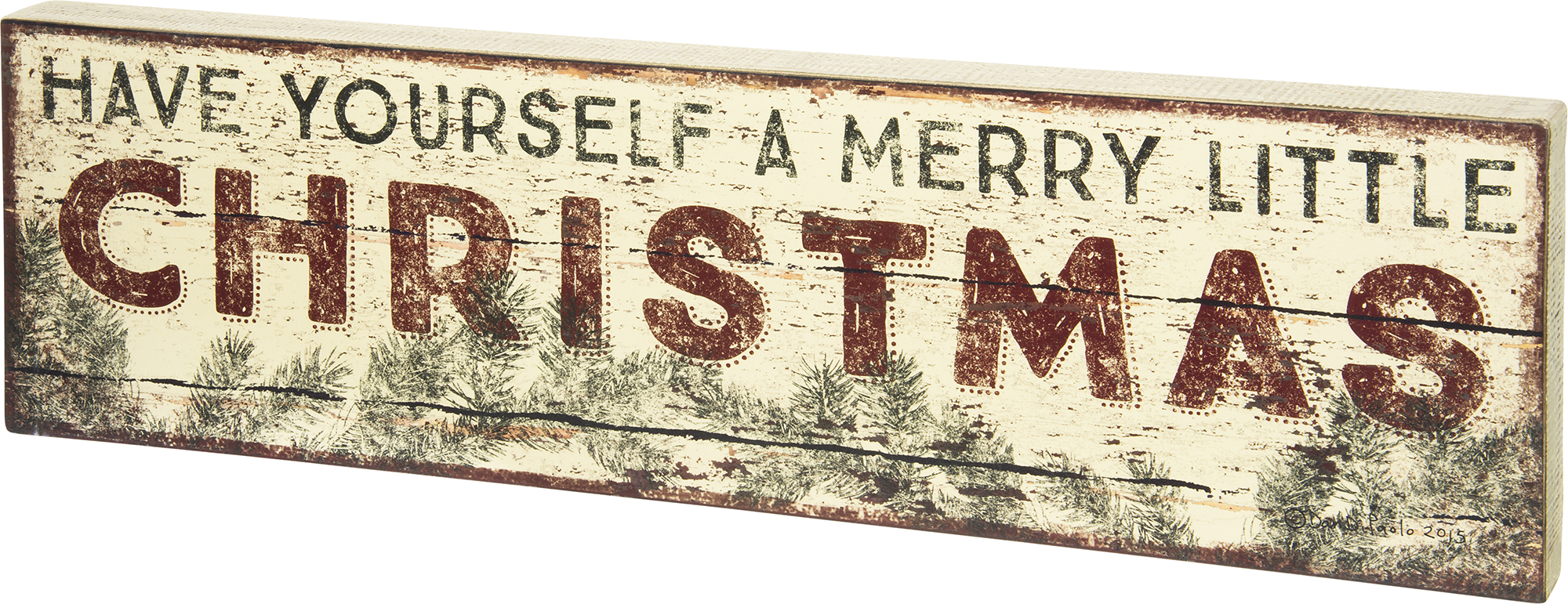 A Merry Christmas Box Sign $46