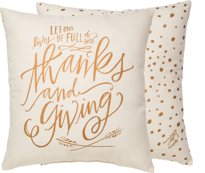 Thanks and Giving Pillow $32