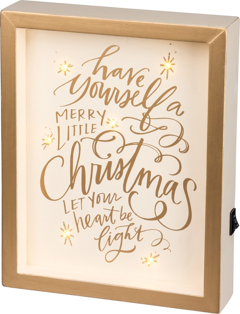 Merry Little Box Sign $32
