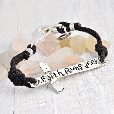 Faith Runs Deep Bracelet $75