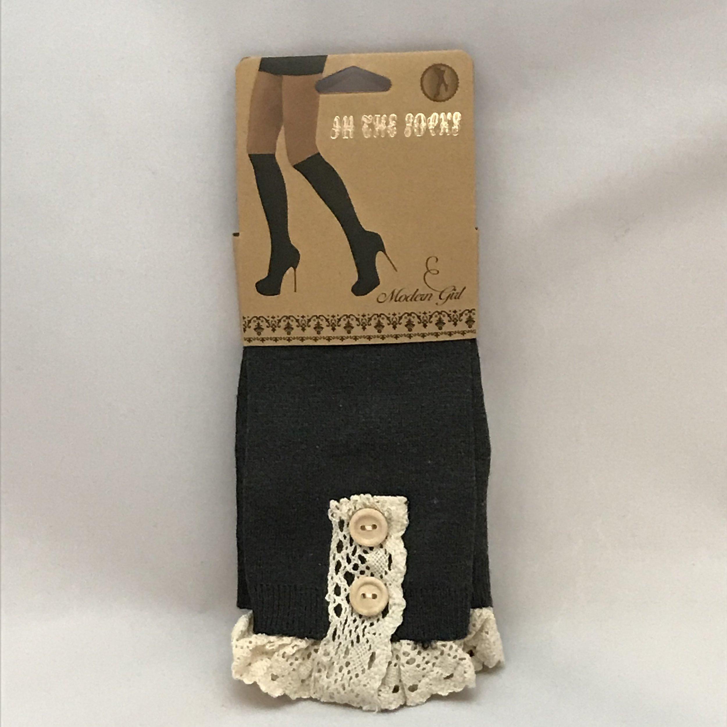 Charcoal Boot Socks $20