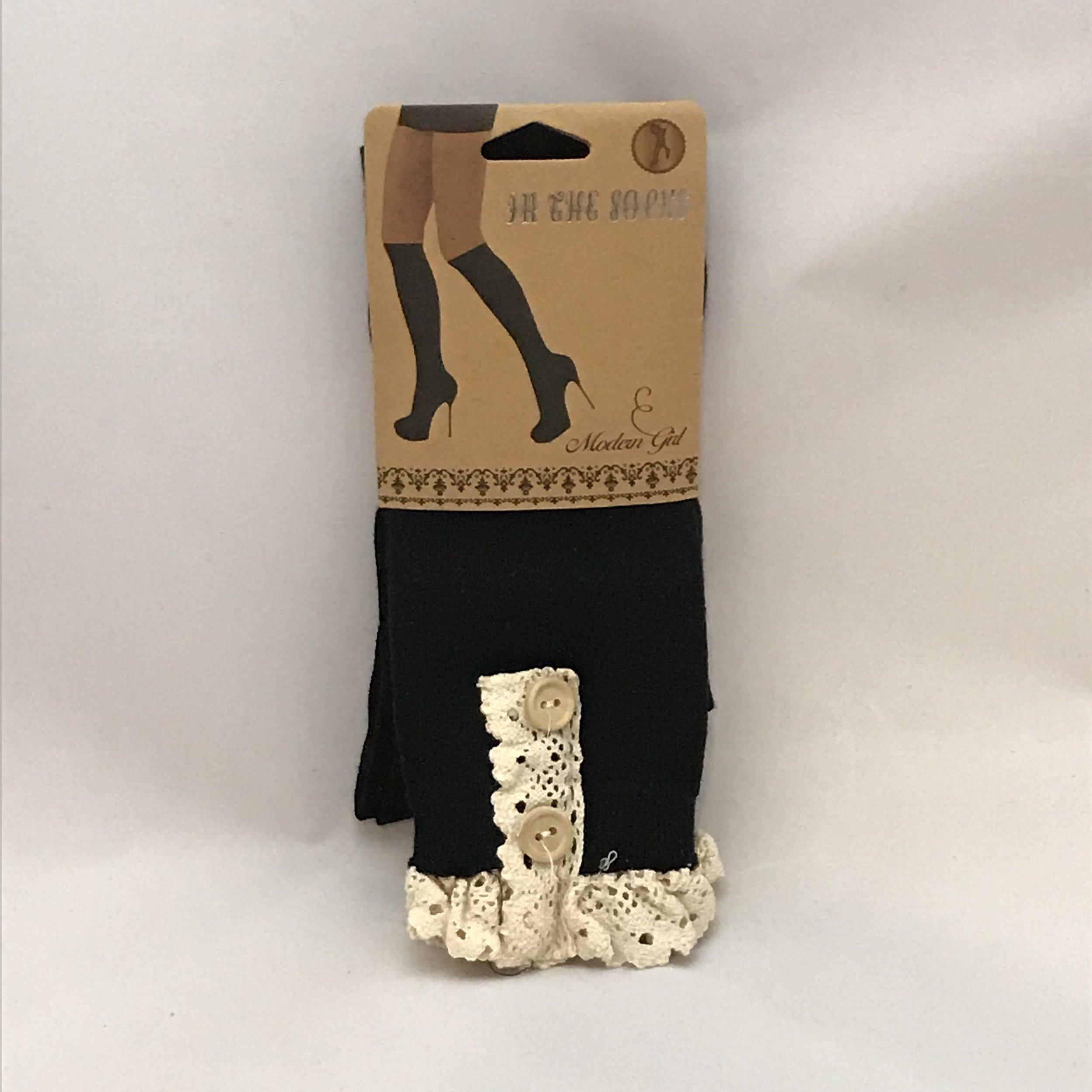 Black Boot Socks $20