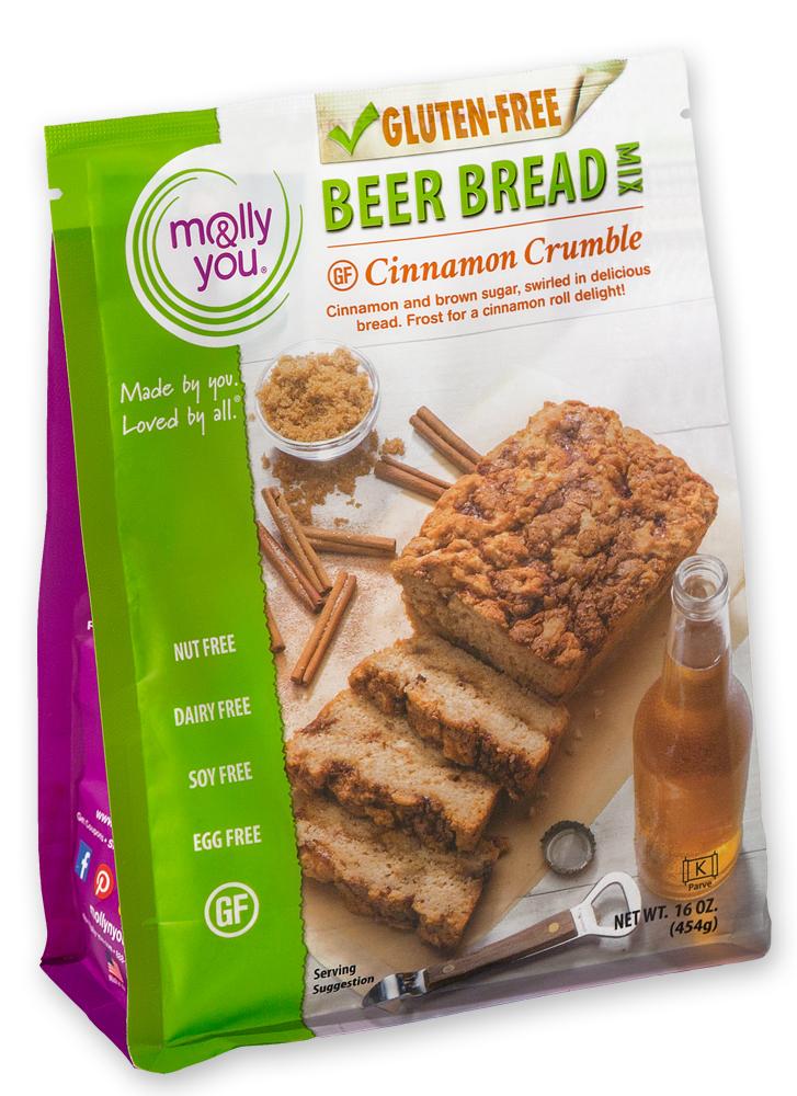 Gluten Free Cinnamon Crumble Beer Bread Mix $10