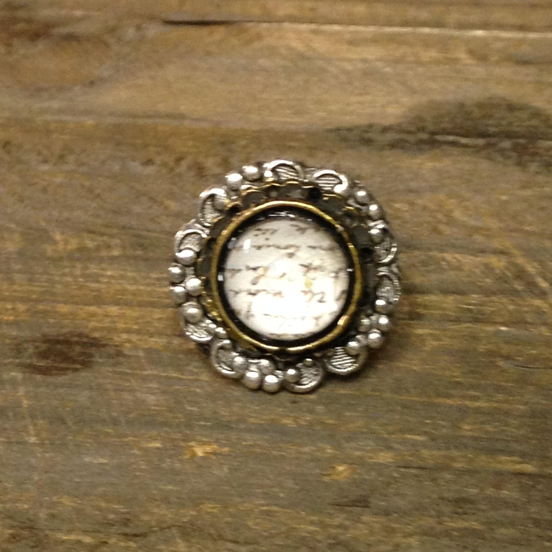 Royal Text Ring $50