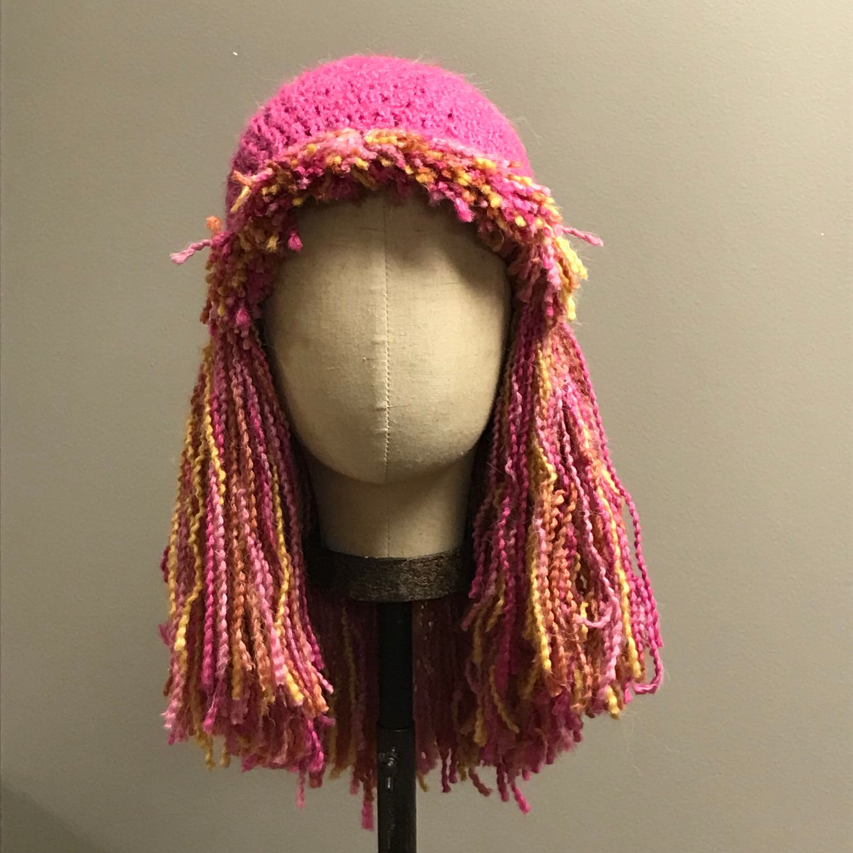 Hand Crochet Crazy Wig Group $36