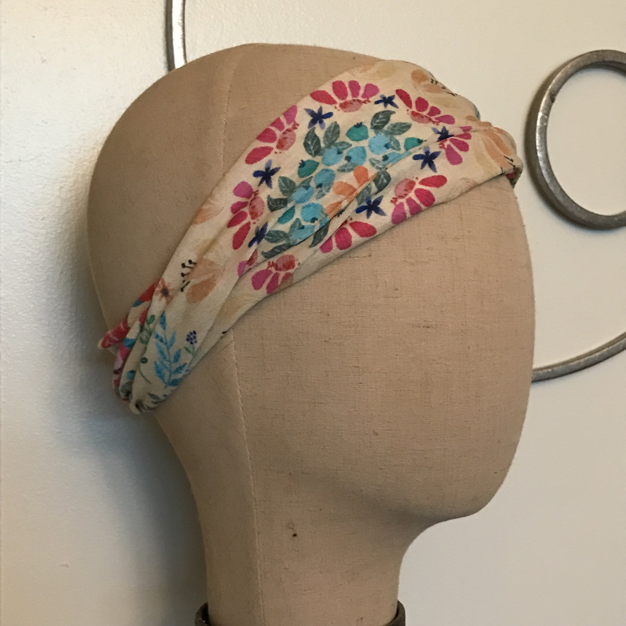 Floral Half Headband $6