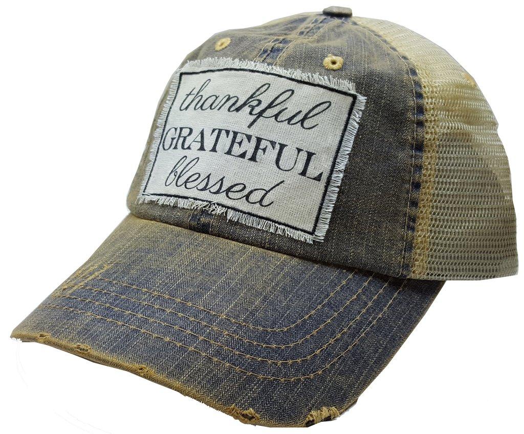 Thankful Grateful Blessed Cap $25
