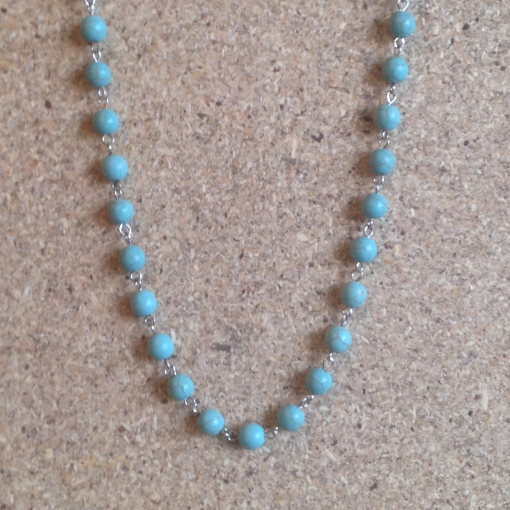 Turquoise Beads Necklace $20