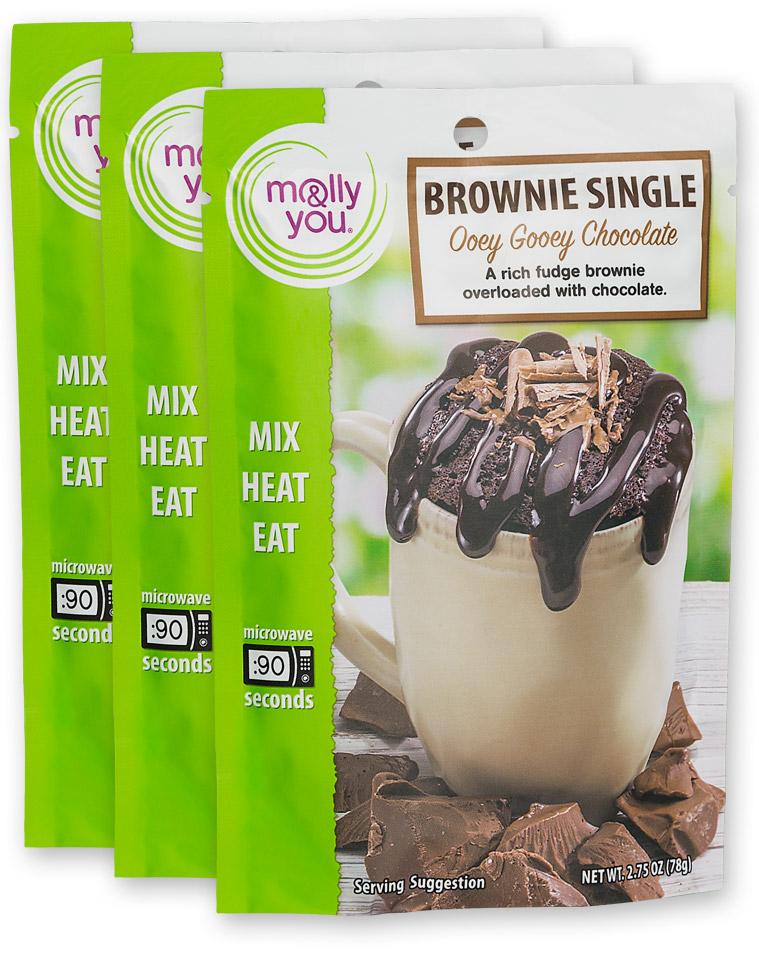 Ooey Gooey Chocolate Brownie $3