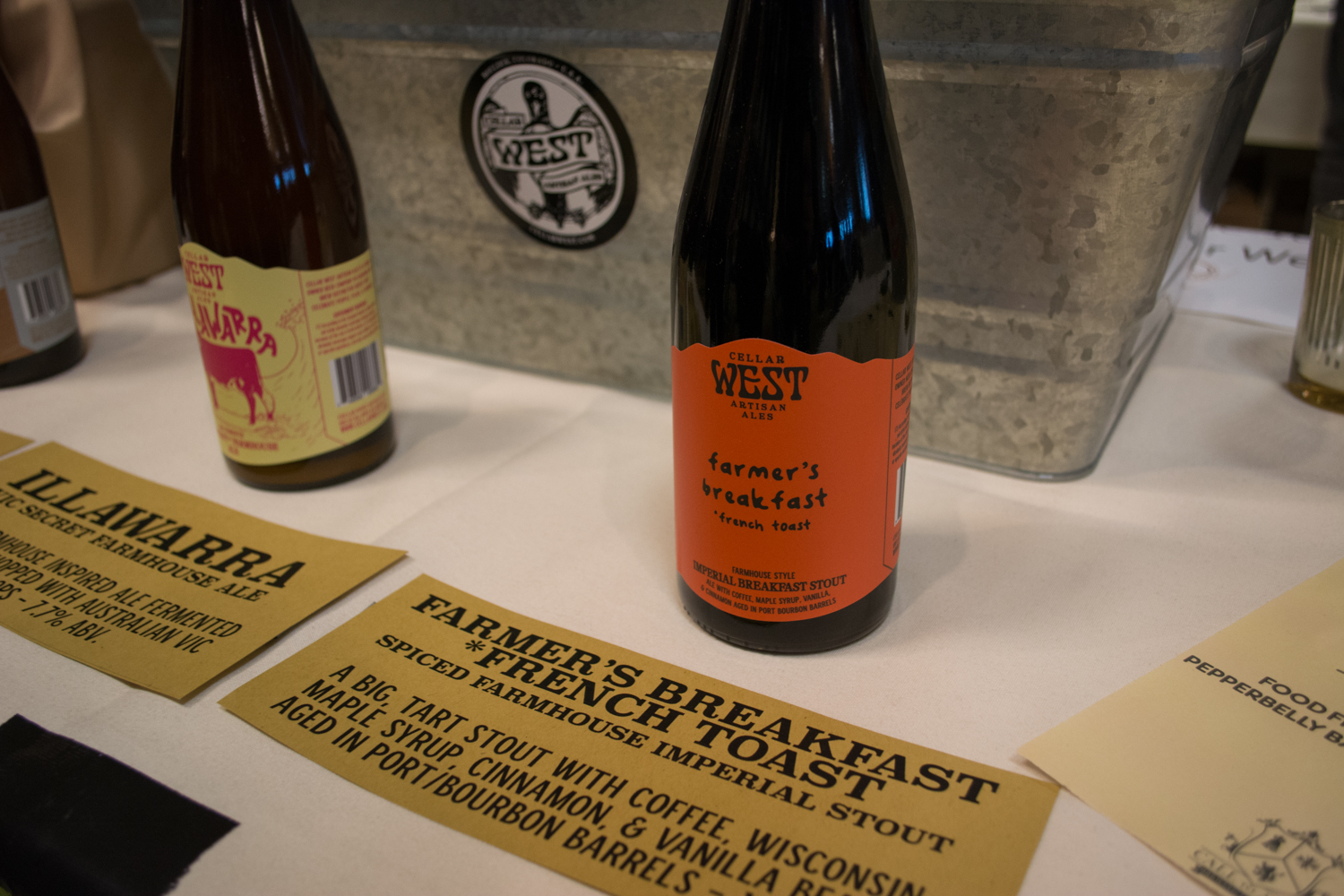 Pastry stouts were the name of the game at Big Beers 2018. Cellar West Artisanal Ales featured a fully loaded breakfast stout.