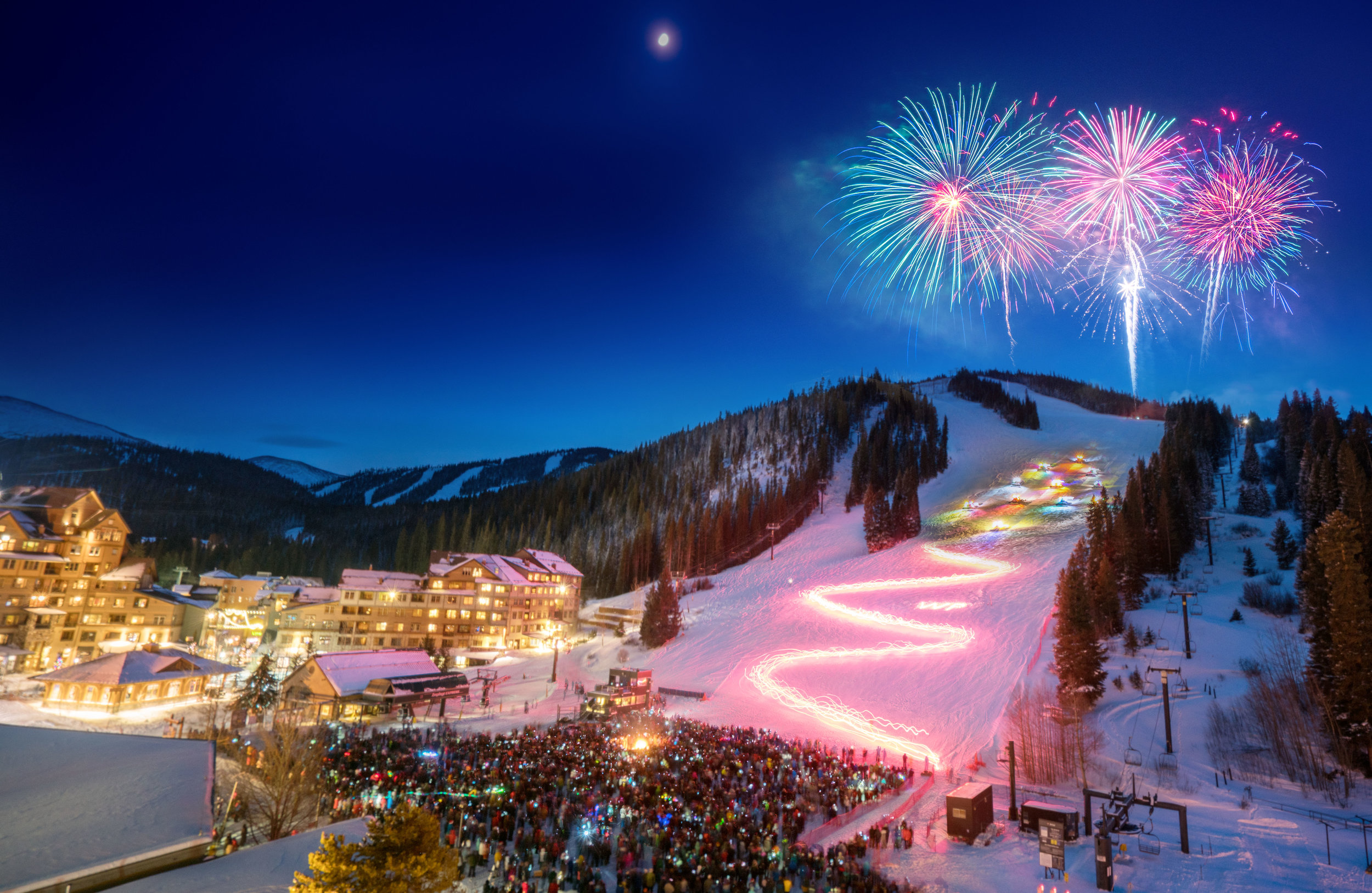 Winter Park Torchlight Parade. Photo: courtesy Colorado Ski Country
