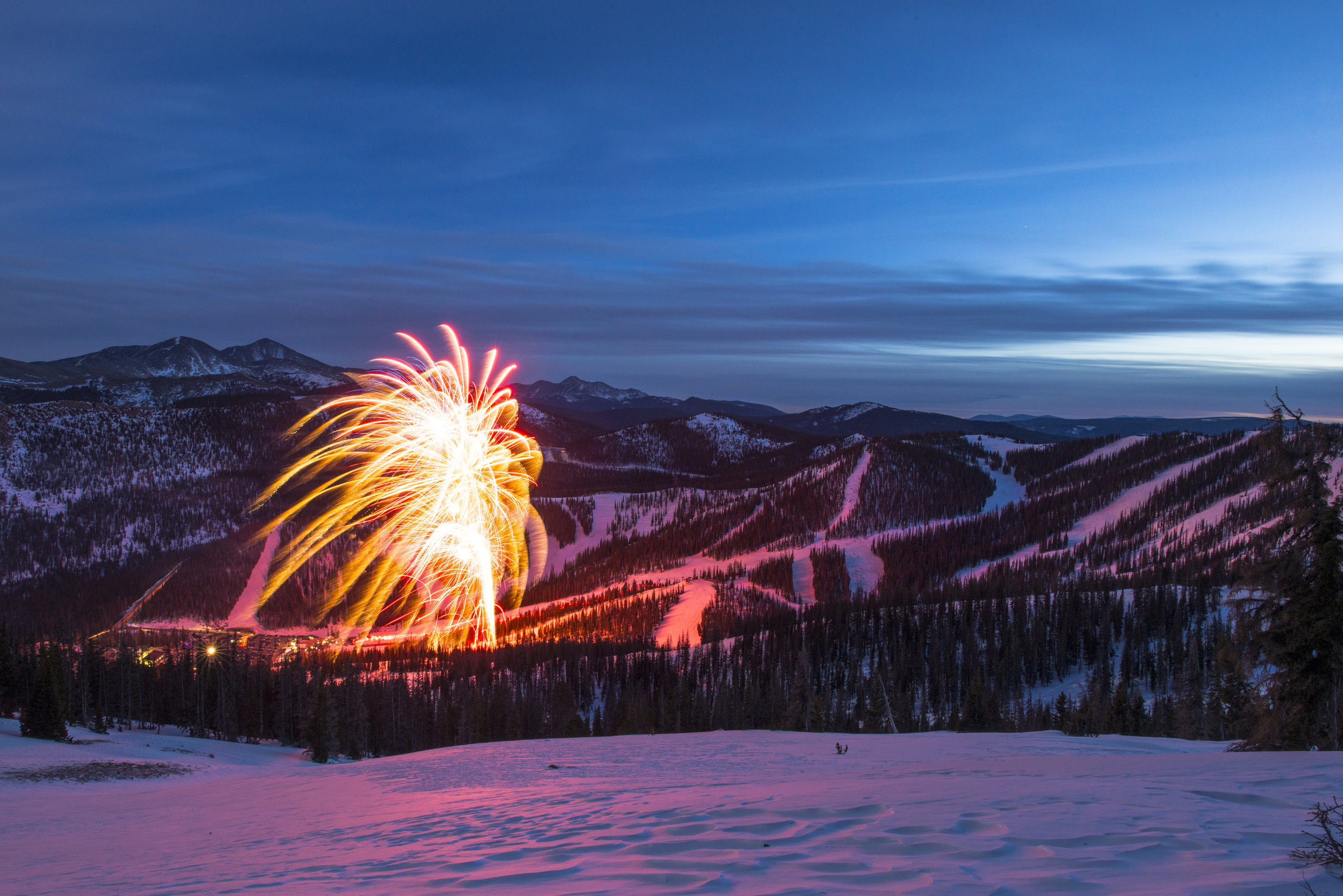 Fireworks at Monarch Mountain. Photo: courtesy Colorado Ski Country