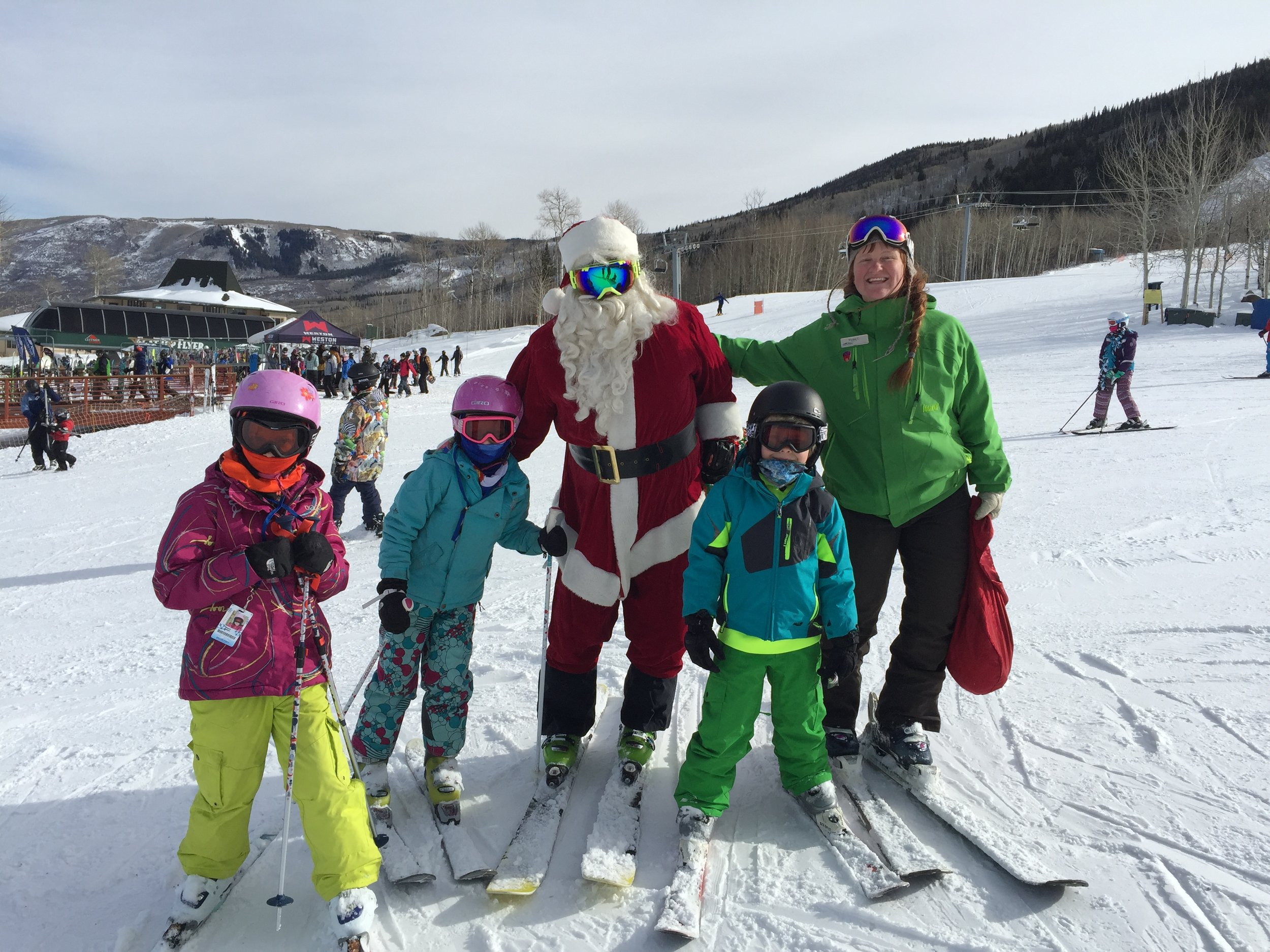 Santa at Powderhorn Resort. Photo: courtesy Colorado Ski Country
