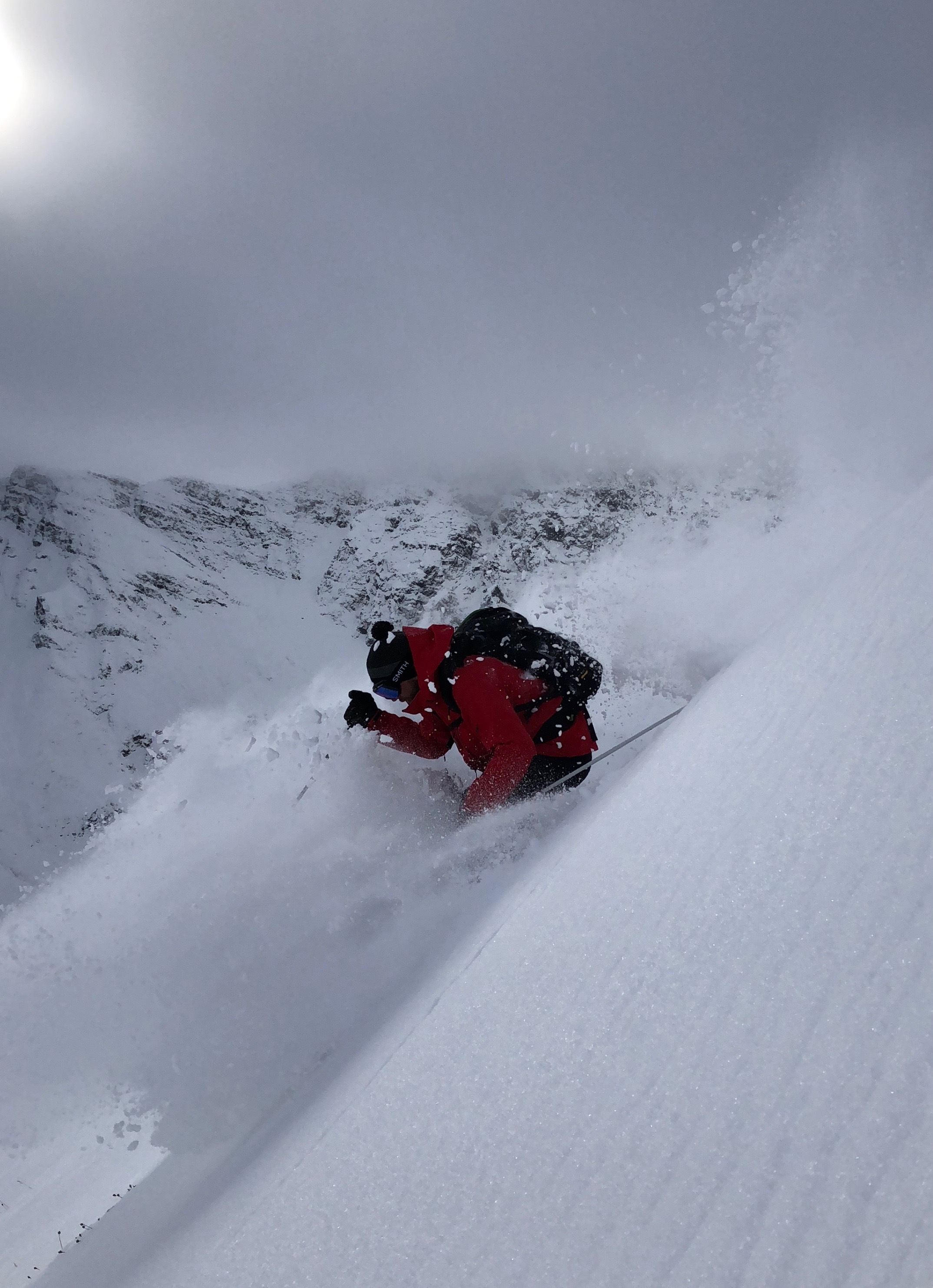 Deep powder and step lines can be found via a heli-drop at Silverton Mountain. Photo: courtesy Silverton Mountain