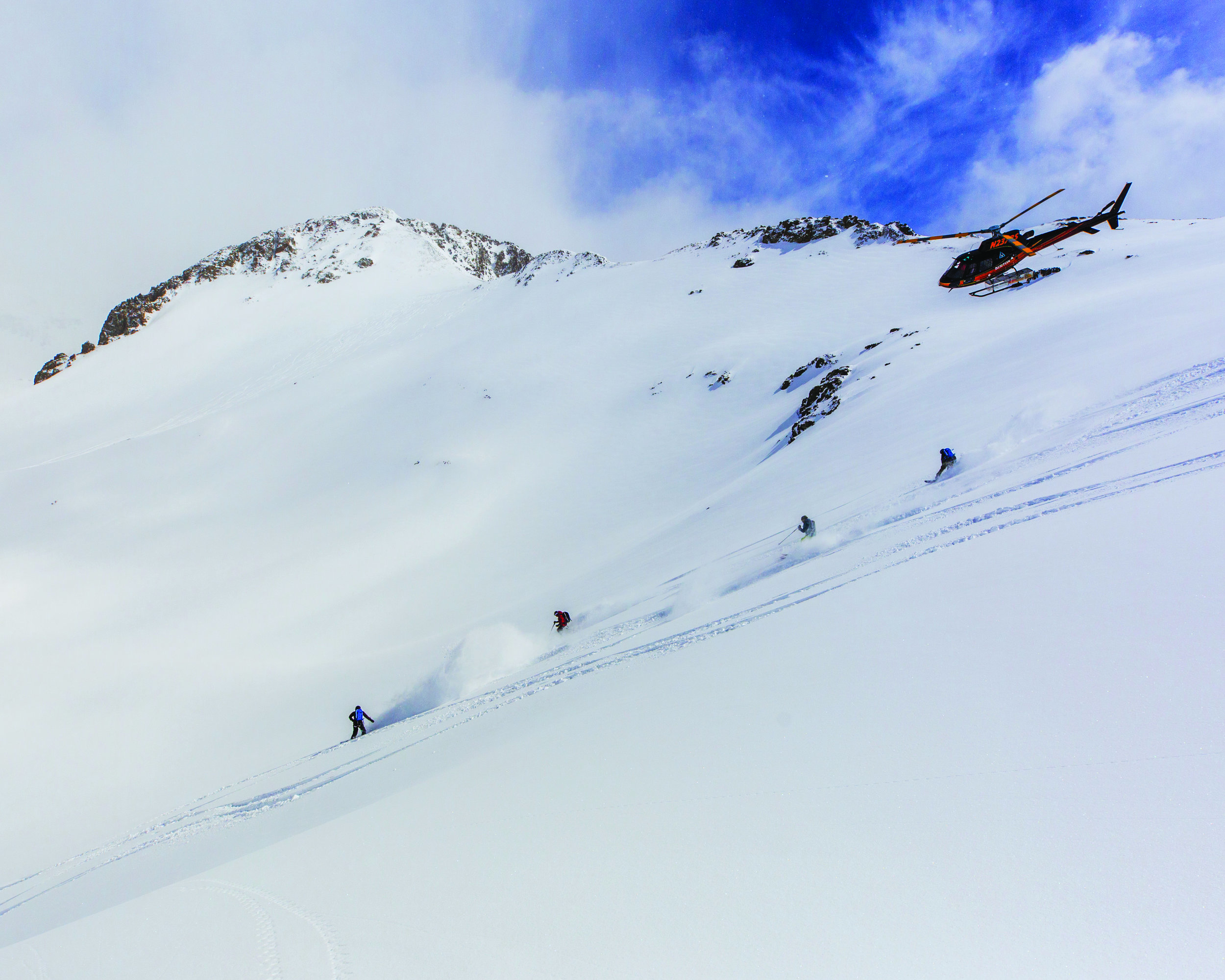 Telluride Helitrax drops skiers for a day in the powder. Photo: courtesy Telluride Helitrax.