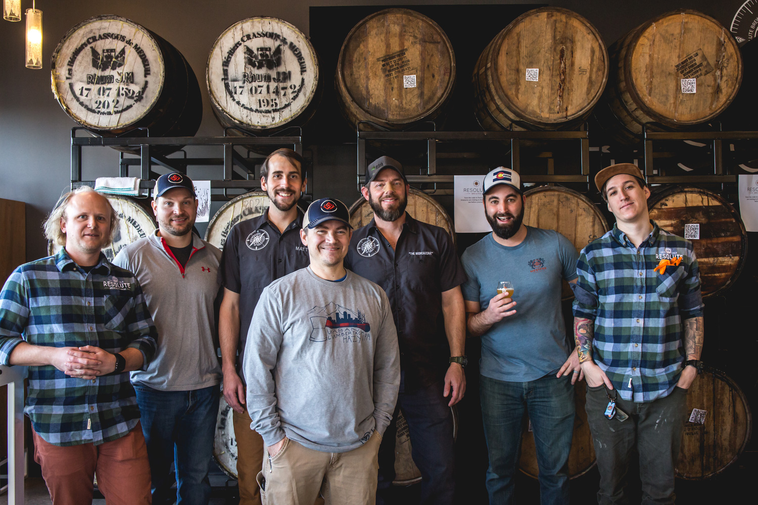 Photo taken at Resolute Brewing with the brewers from Resolute & Westfax. Photo: Melissa Markle | M. Markle Photography