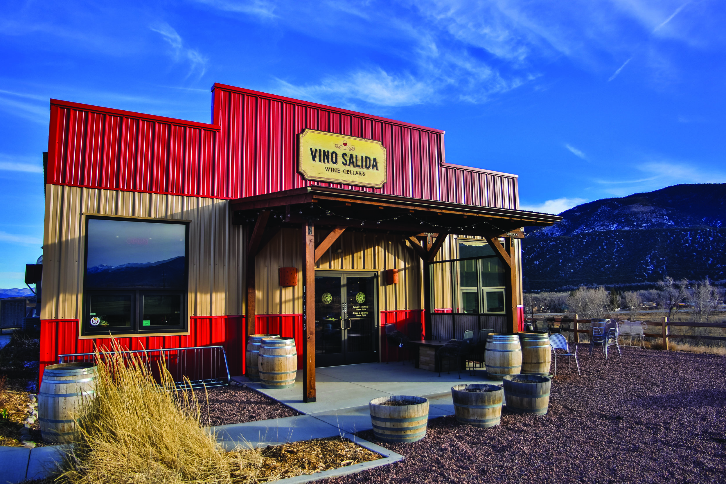 Vino Salida's Poncha Springs wine bar and tasting room sits in the heart of Chaffee County just off U.S. Highways 50 and 285.