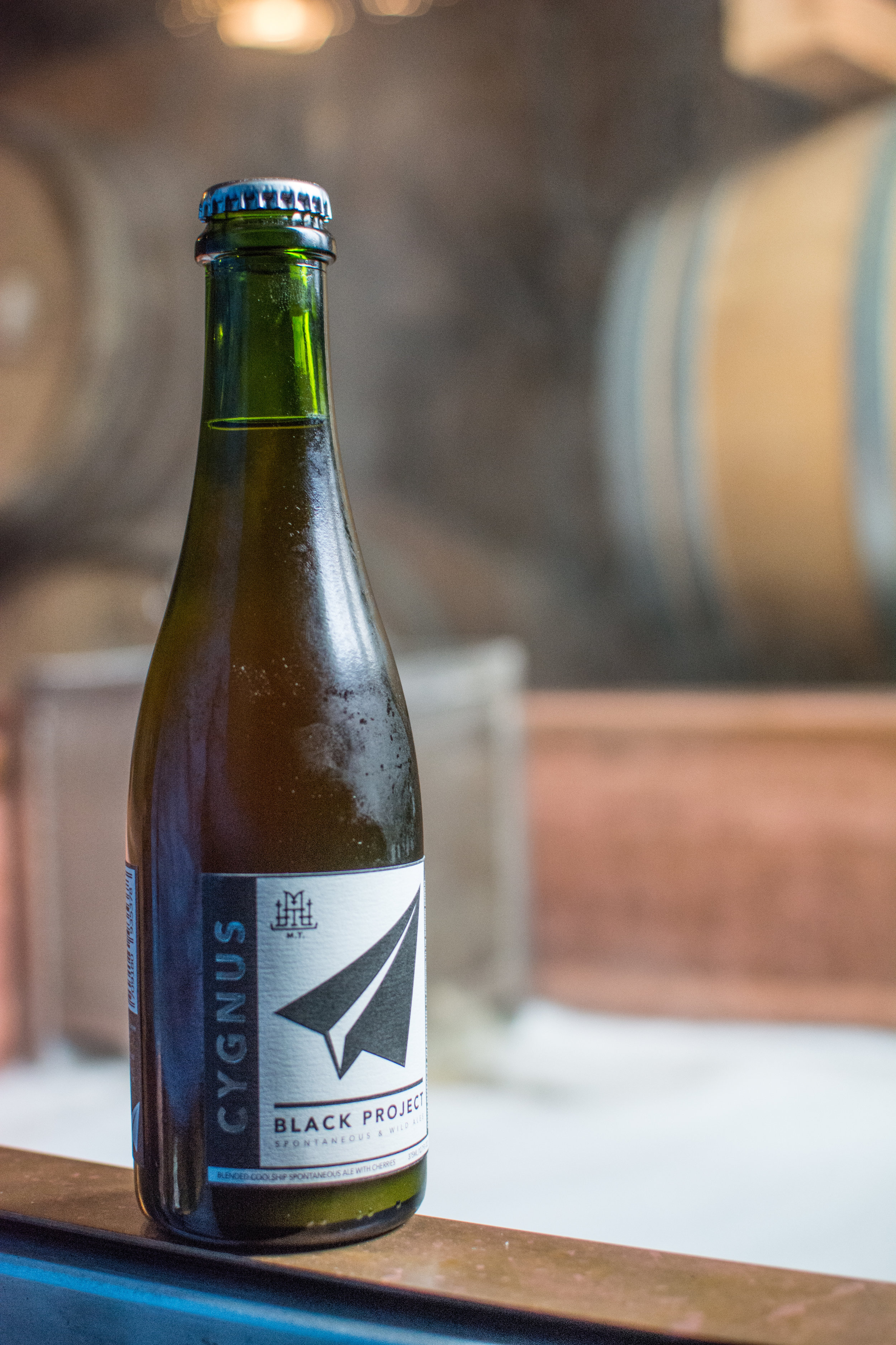 Cygnus    Style: Lambic-inspired,  coolship spontaneous ale    Brewery: Black Project    Location: Denver    ABV: around 7 percent    IBU: 20