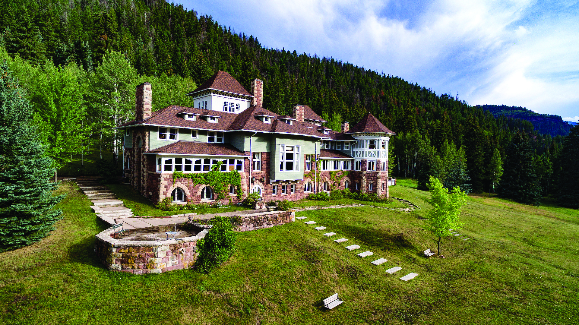 Red Stone Castle near Carbondale now operates as a boutique hotel. Photo courtesy of Red Stone Castle.