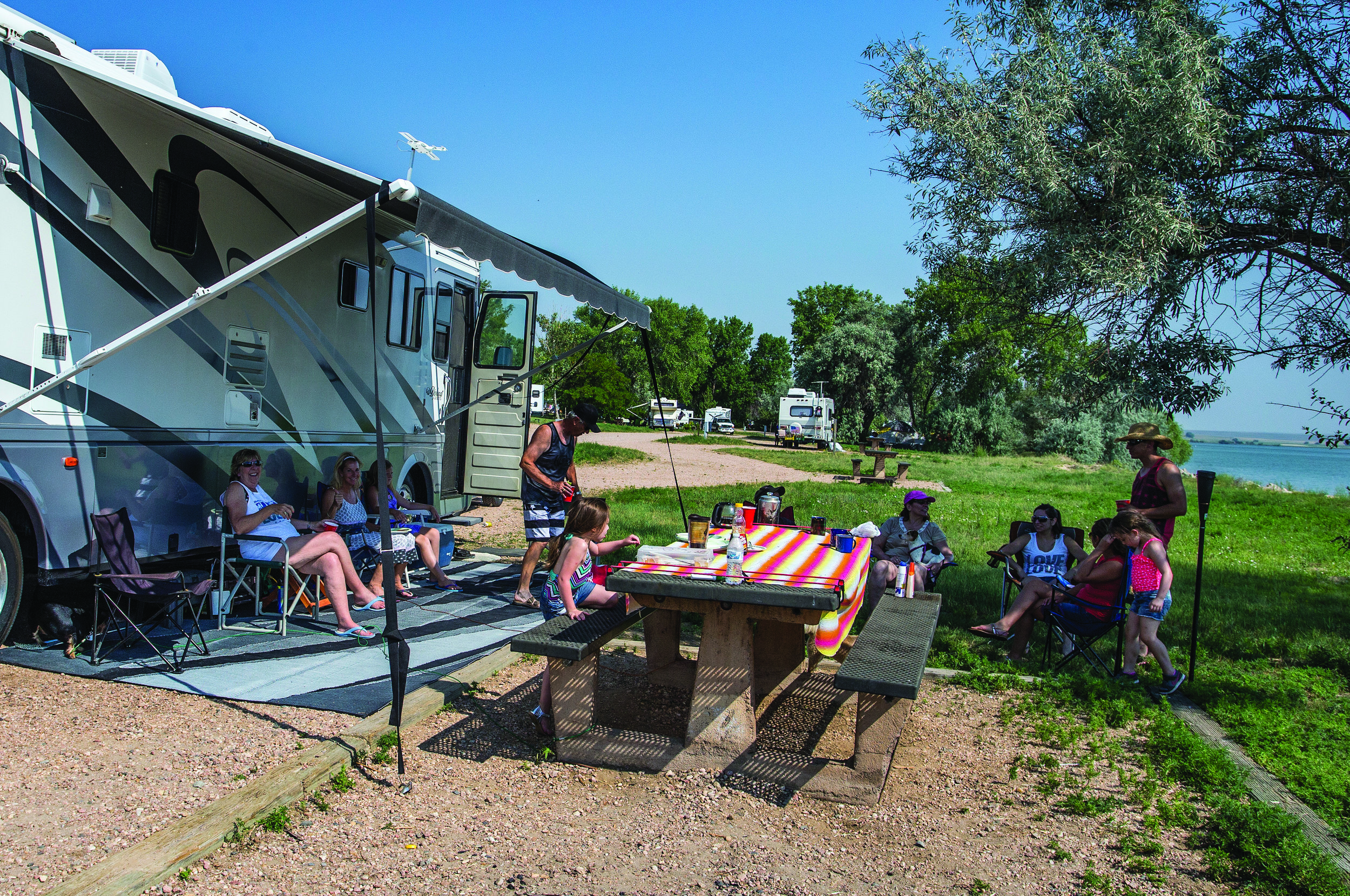 Recreational vehicles are popular at Jackson Lake State Park.  Photo: Courtesy Colorado State Parks