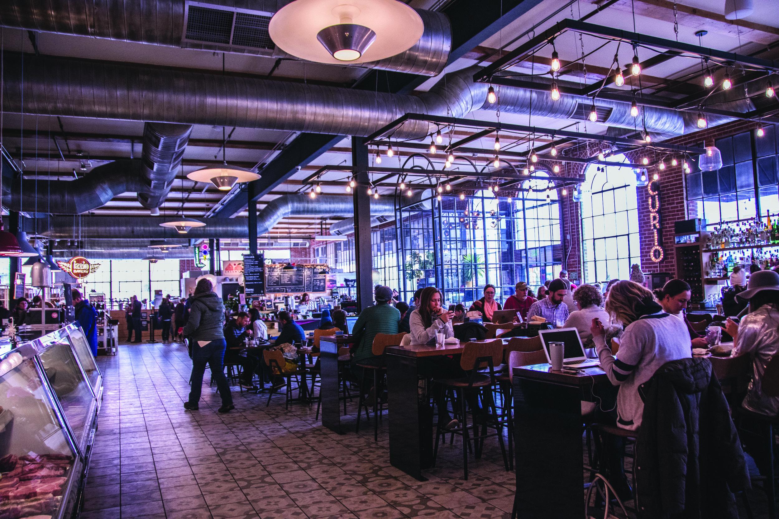 Guests dine, snack, drink and shop at Denver Central Market. Photo: Natasha Lovato