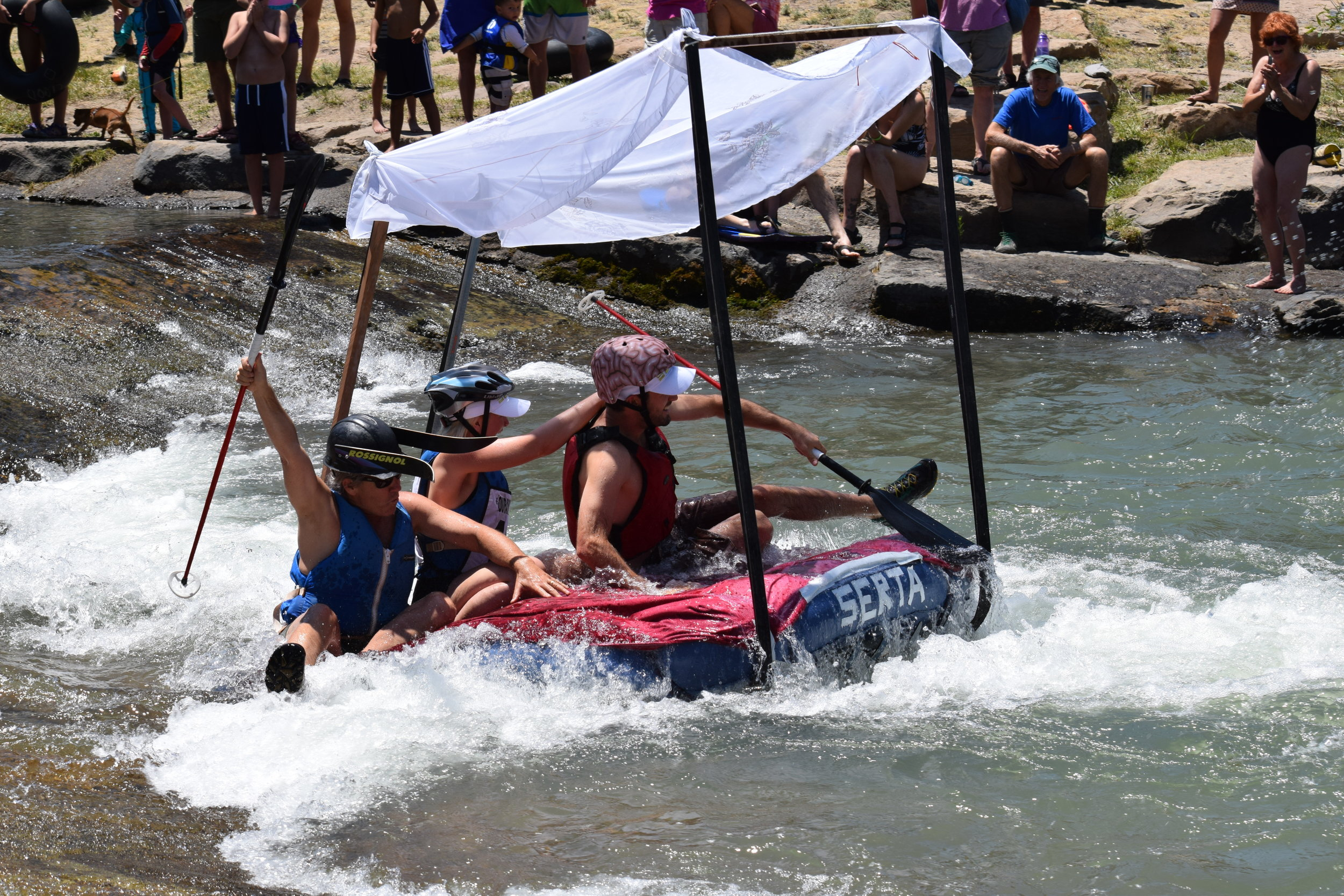 Photo courtesy of Uncompahgre Watershed Partnership. The Junk of the Unc is one of the entertaining river races at the Ridgway RiverFest.