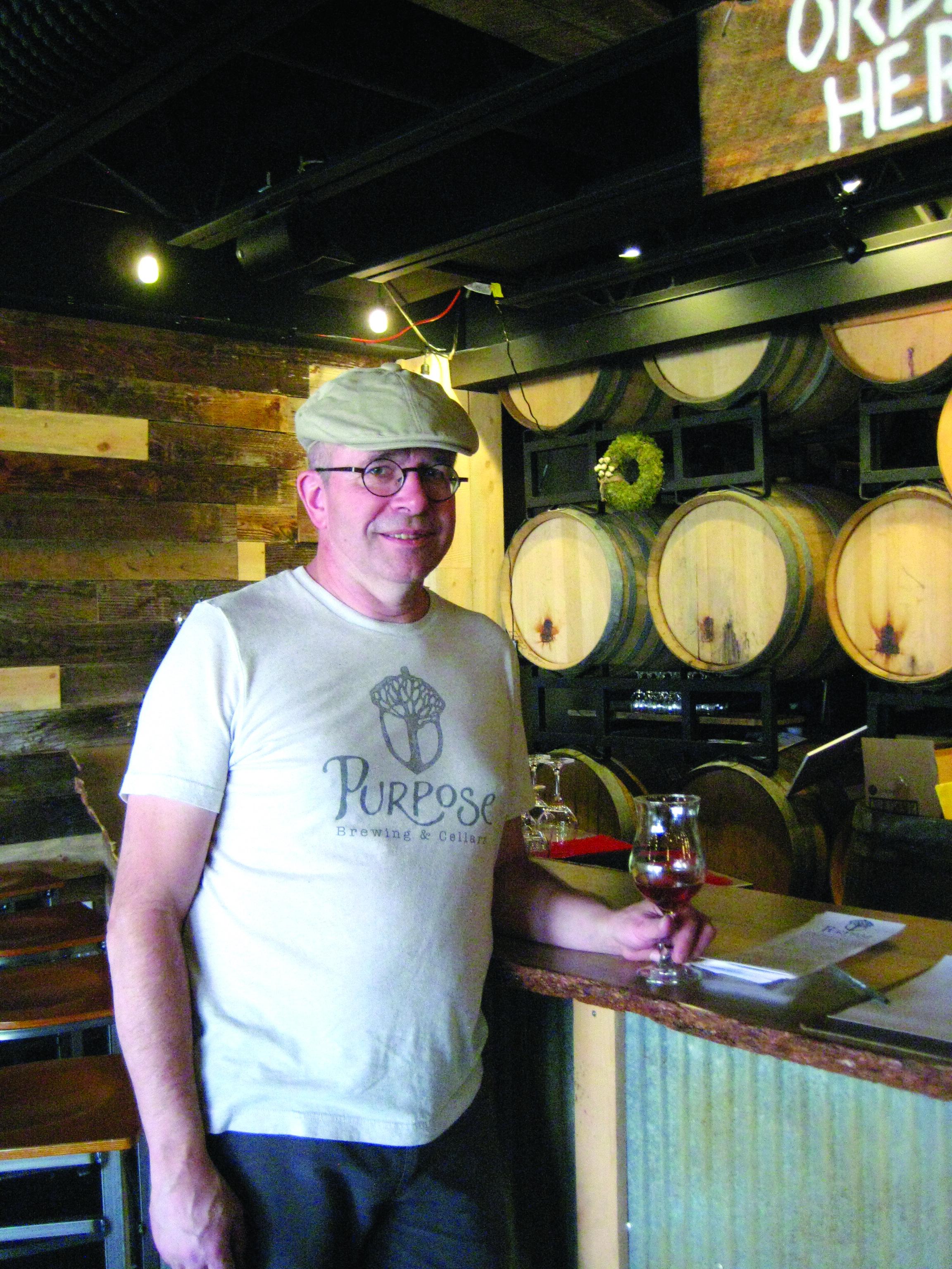Peter Bouckaert at Purpose Brewing.