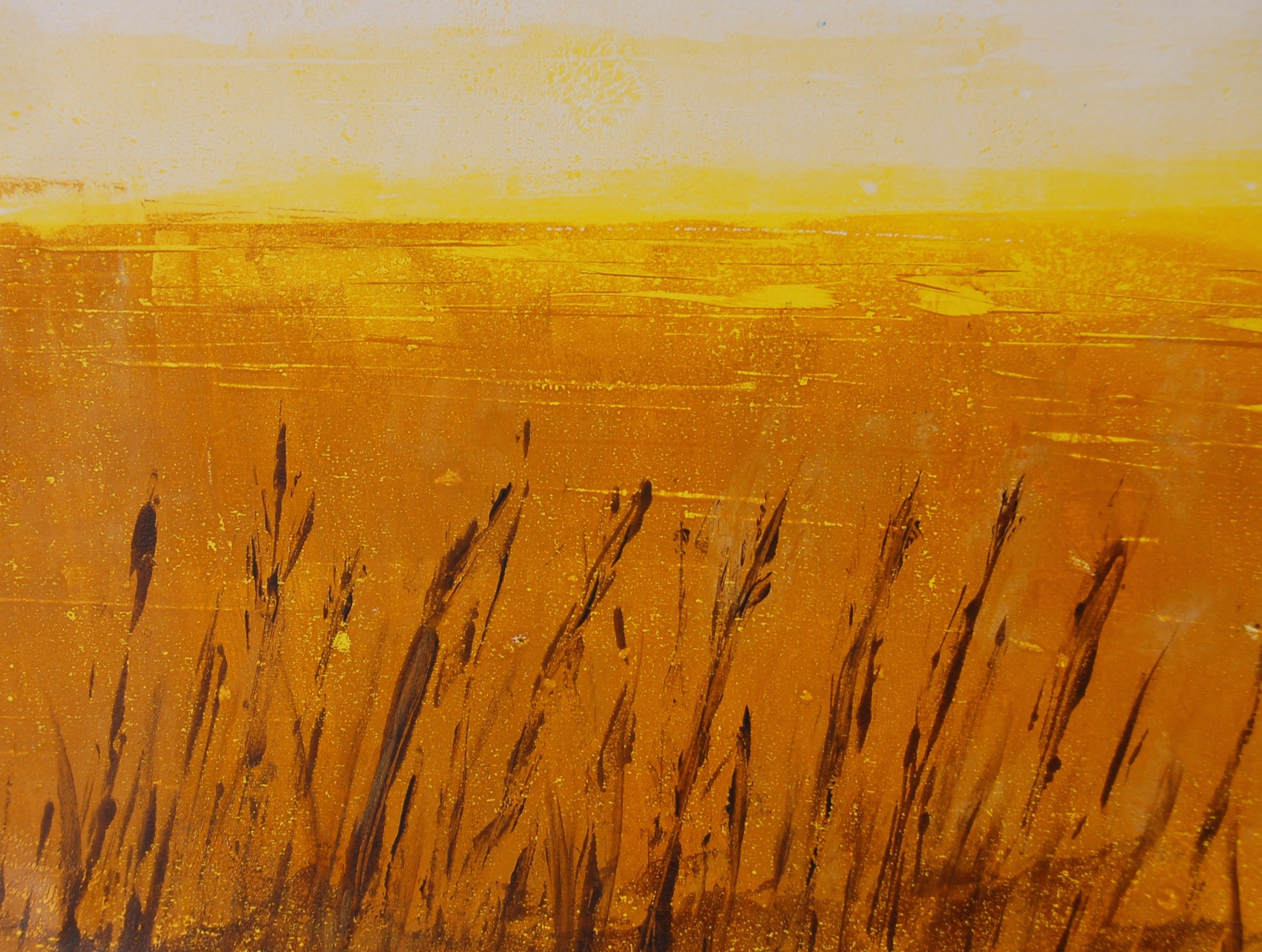 'In Praise of Prairies III', 16x20 monotype painting