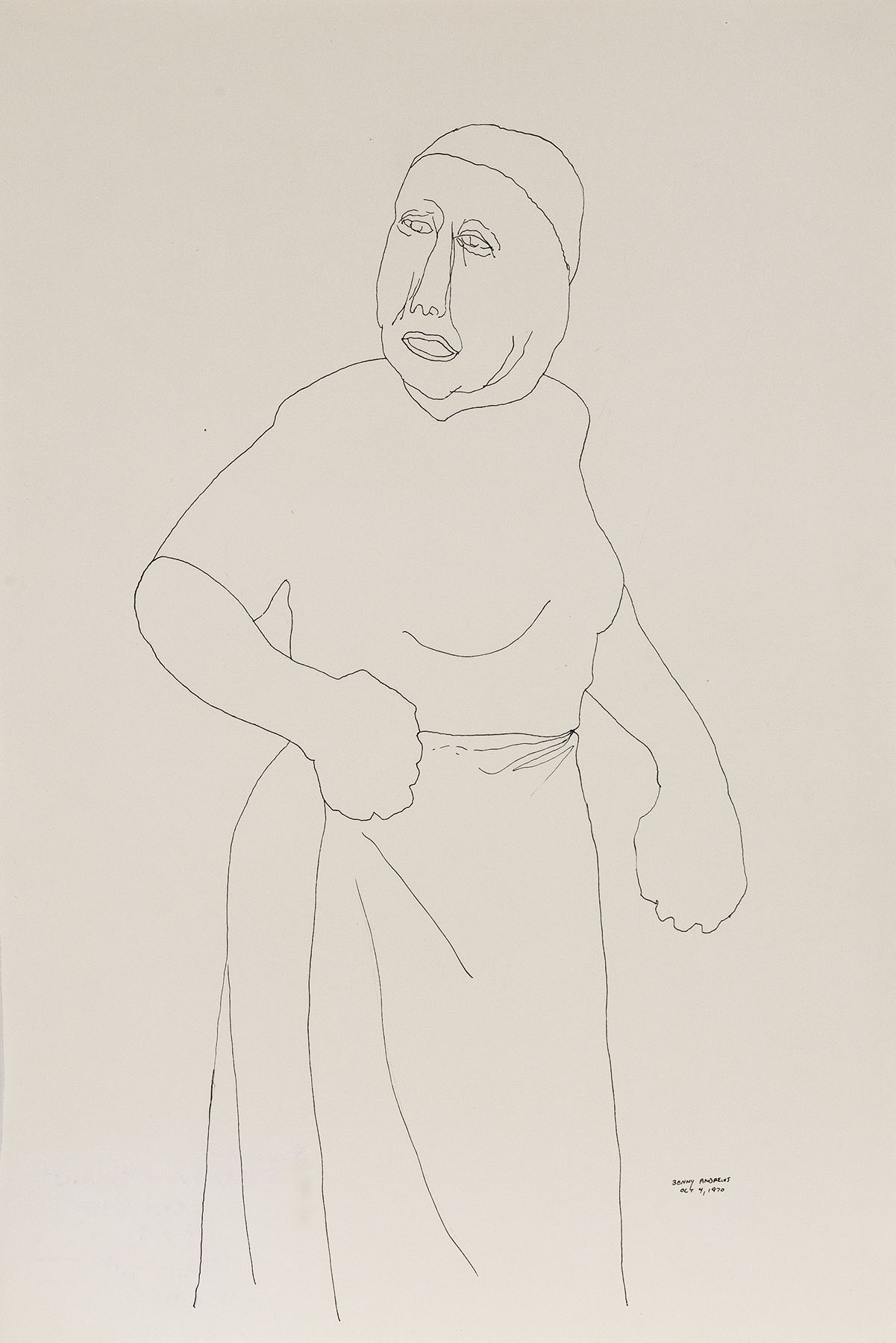 """Woman (Study for Symbols), 1970 pen and ink on paper 18 x 12"""""""