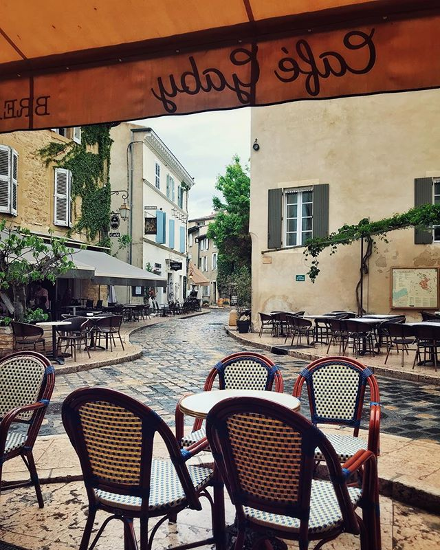 This is my idea of perfect happiness. Little French town, no tourists, good food and nothing to do 😍 #vacation #roadtrip #travel #travelphotography #enjoyinglife #happiness #yolo #iphonephotography  #france #provence #rainyday #dontcare