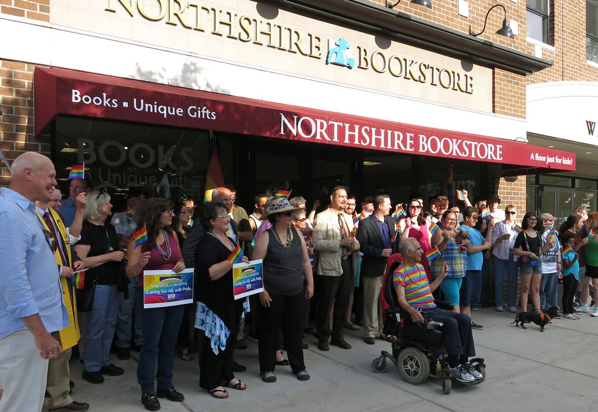 Group photo at Northshire Bookstore on Broadway