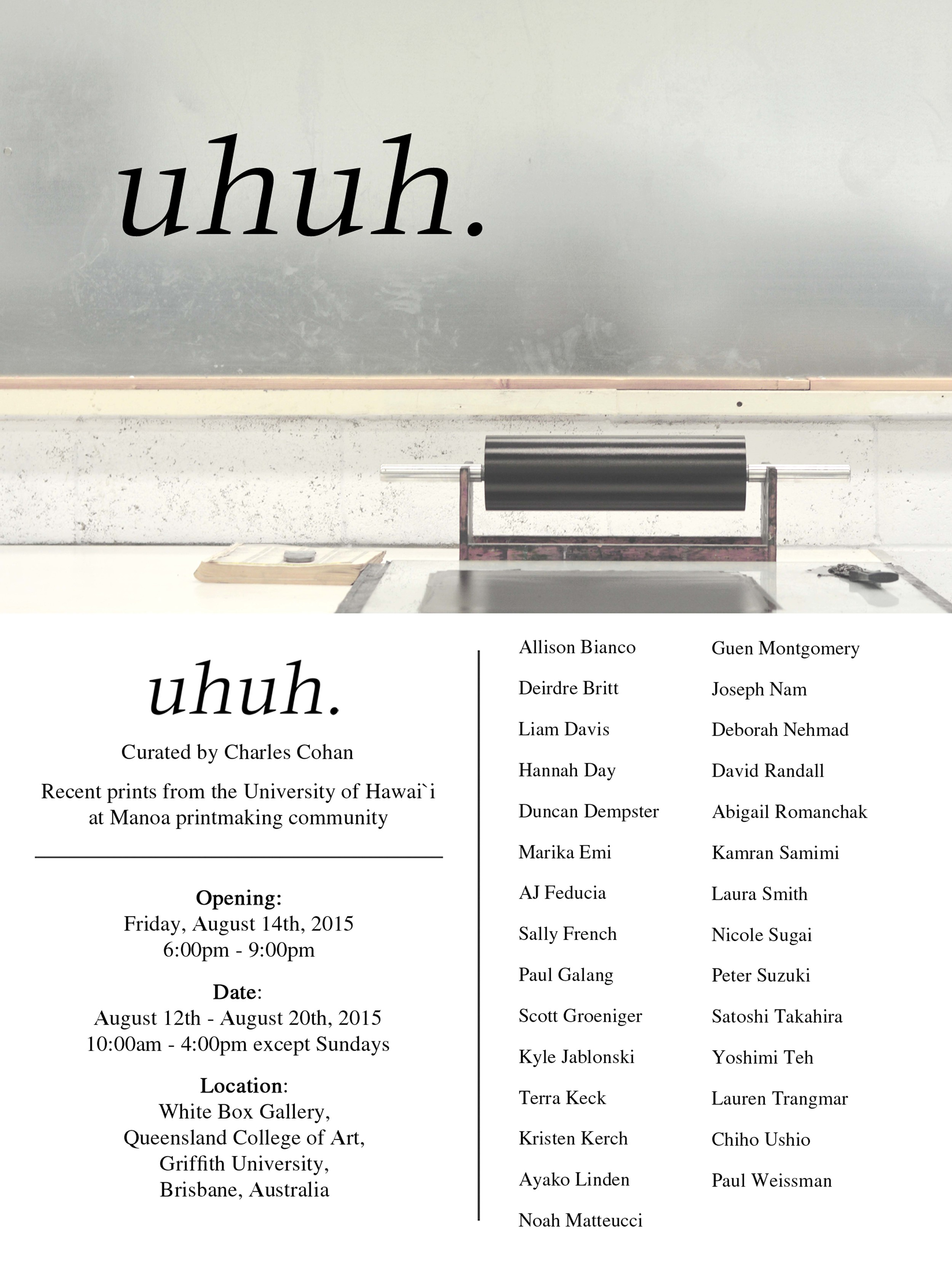 Exhibition poster (design and printed by me)